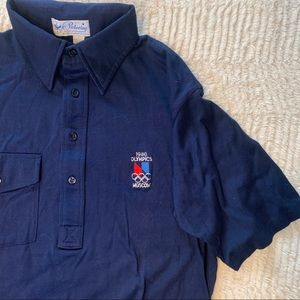 RARE Vintage 1980 Moscow Olympics Polo Graphic Tee